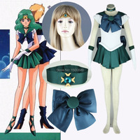 Athemis Anime Sailor Moon Michiru Kaioh Sailor Neptune Cosplay Costume Custom Made Dress High Quality