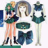 Athemis Anime Sailor Moon Michiru Kaioh Sailor Neptune Cosplay Costume Custom Made Dress High Quality