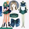 Athemis Anime Sailor Moon Michiru Kaioh/Sailor Neptune Cosplay Vestido feito sob medida de Alta Qualidade