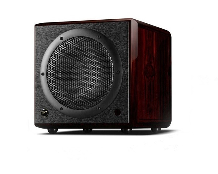 H10 SUB Active Subwoofer One way vented active subwoofer active speaker remote control 85dB 4 ohms rosewood 10 woofer