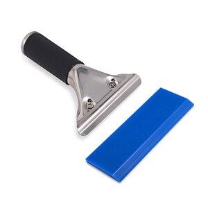 Image 4 - EHDIS – raclette à manche avec lame en caoutchouc BLUEMAX, essuie glace de voiture, pelle à neige, teinte de fenêtre, outil de nettoyage domestique de cuisine