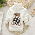 Autumn Winter Baby Girls Boys Sweater Pullover Cartoon Cute Bear Sweaters Knitwear Children Clothes Kids Turtleneck Outerwear