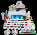 New Pro 36W UV GEL  Lamp & 36 Color UV Gel Nail Art Tools polish Set Kit  Free Shipping