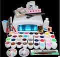 Nueva Pro 36 W UV GEL Lámpara y 36 Gel UV Color de Uñas de Arte Herramientas de uñas Set Kit Envío Gratis