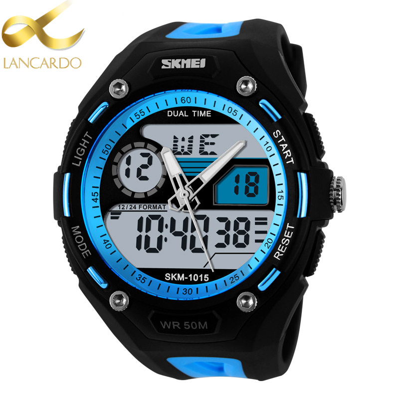 Sport Men Digital Watch Relogio Masculino Men Dual Display Waterproof Lancardo Wrist Watches Military Army Male Clock Hodinky criancas relogio 2017 colorful boys girls students digital lcd wrist watch boys girls electronic digital wrist sport watch 2 2