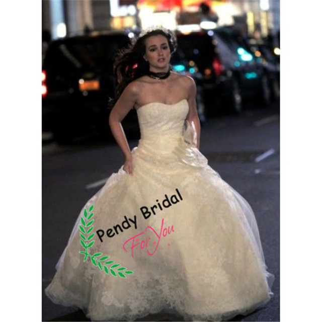 Leighton Meester Blair Royal Wedding Gown In Gossip Girl Season 5