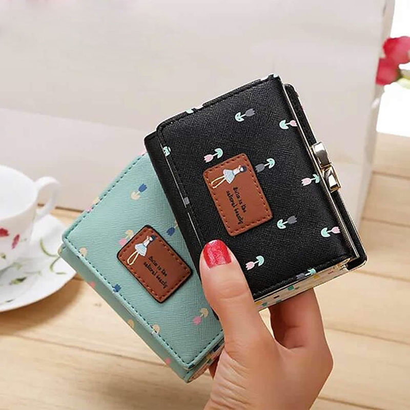 THINKTHENDO Fashion Lady Women Clutch Wallet Short Card Holder Phone Handbag Coin Purse Bag 2017 wholeworld market fashion clutch handbag wallet women cat pattern coin purse short wallet card holders handbag a 4