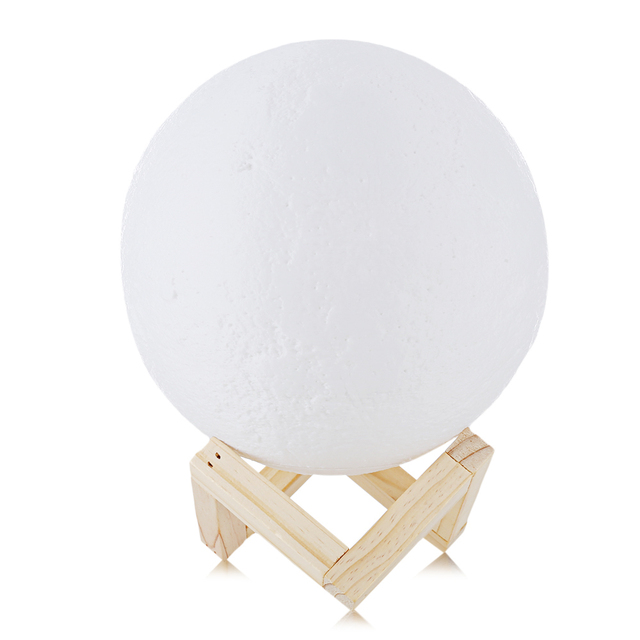 Rechargeable 3D Lights Print Moon Lamp 2 Color Change Touch Switch Moon Light Bedroom Led Night Light Home Decor Creative Gift 2