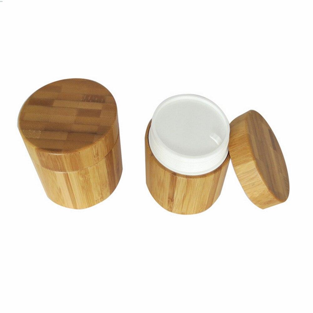 2ps 50g ambalaj de bambus recipient de lemn Cream Jar, borcane crem - Instrumente pentru îngrijirea pielii