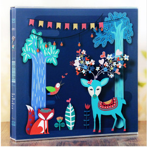Image 1 - 640 Sheets Photo Album with Gift Box General Interleaf Type Children Photo Album Transparent PVC Pages for 5 6 7 8 Inch Picture