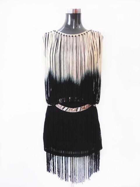Great Gatsby 1920s Flapper Fringe Dress