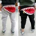 Venda quente de Outono 1 pcs Retail tubarão meninos meninas calças do bebê calças infantis Desgaste Harém Crianças Calças moda Sweatpants