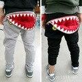 Venta caliente Otoño 1 unids tiburón Al Por Menor niñas niños pantalones pantalones del bebé infantiles Desgaste Harén Niños Pantalones de Chándal de moda