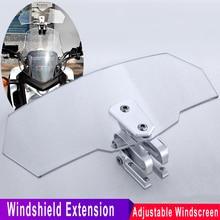 Defletor de vento viento moto universal windshield windscreen extensão para triumph honda kawasaki suzuki benelli yamaha