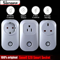 Sonoff S20 Wifi Wireless Remote Control Socket Smart Home Power Socket EU US UK Standard Via