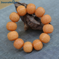 Wholesale Old Seed Root Weathering Bodhi Bracelets Carved King Kong Wrinkle Buddha Beads Hand String Lucky