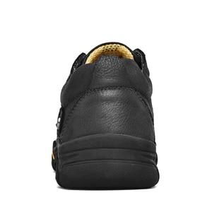 Image 5 - CLAX Mens Scarpe Da Lavoro Genuino maschile In Pelle Alla Caviglia Stivali uomo Casual Calzature Scarpe di Cuoio chaussure homme Plus Size