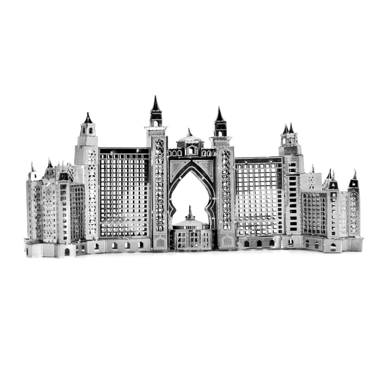 2019 New 3d Metal Puzzle Model Atlantis Hotel/st Peter Basilica/st.patricks Cathedral Construction Series Manual Assembly Toys