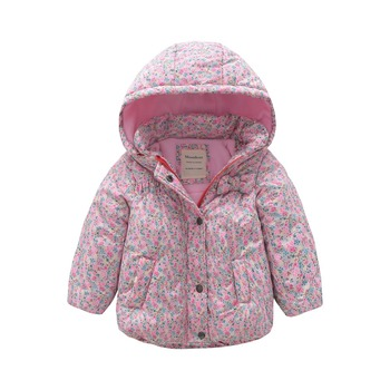 M119 Winter Child Thicken Warm Padded Lining Jacket Print Hooded 2019 Parka Coats Kids Tops Spring Autumn Outwear Girls Jacket