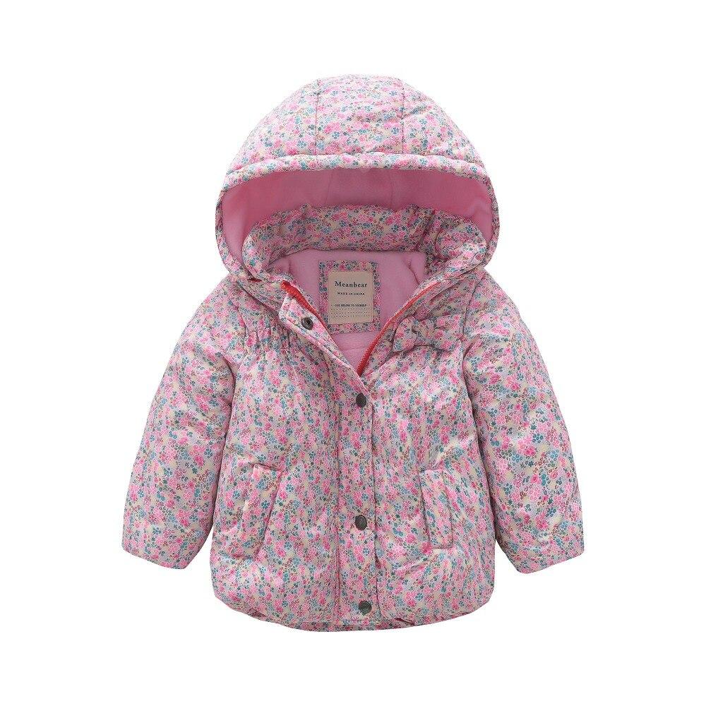 все цены на M119 Winter Child Thicken Warm Padded Lining Jacket Print Hooded Boys Parka Coats Kids Tops Spring Autumn Outwear Girls Jacket