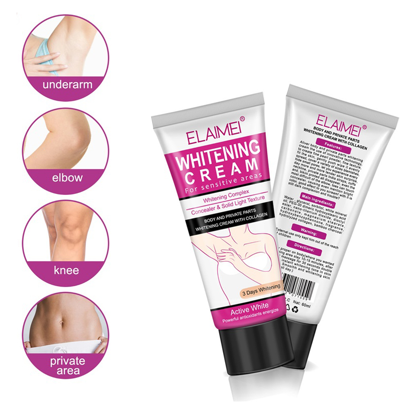 New Style Underarm Whitening Cream Armpit Whitening Cream Legs Knees Private Parts Body Whitening Cream Cosmetics Skin Care