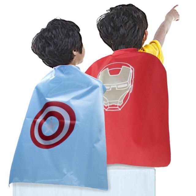 Super hero hero Crianças Jogo Animação Dos Desenhos Animados Do Traje do dia das bruxas Manto Trajes de Desempenho Palco Adereços Brinquedos e Presentes