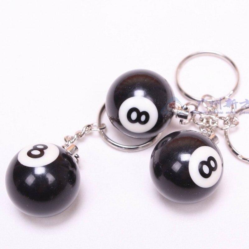 7fc93f288f189 8 pcs Mini chaveiro bola de bilhar bola de bilhar preto 8 Decoração jogo de  Bilhar bola CUE 2.5 cm anéis chave Bonito em Bolas de sinuca   bilhar de  Sports ...