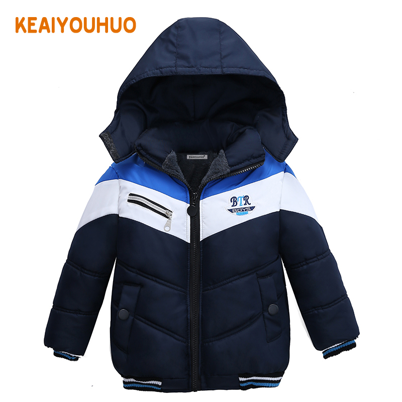 Boys Coats 2017 Spring Winter Baby Jackets Baby Boys Clothes Boys Outerwear&Coats Warm hooded Winter Kids Children Clothing