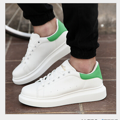 2015 men shoes luxury brand sneakers white casual pu