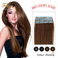 Remy PU Tape in Human Hair Extensions Brazilian Virgin Straight Hair 20pcs Adhesive PU Skin Weft Seamless Hair Extensions