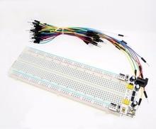 Suq 3.3V/5V MB102 Breadboard power module+MB-102 830 points Solderless Prototype Bread board kit +65 Flexible jumper wires