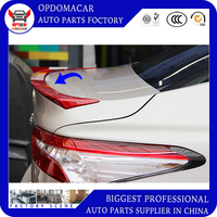 ABS black white color car rear lip spoiler for Camry camry 2018 18