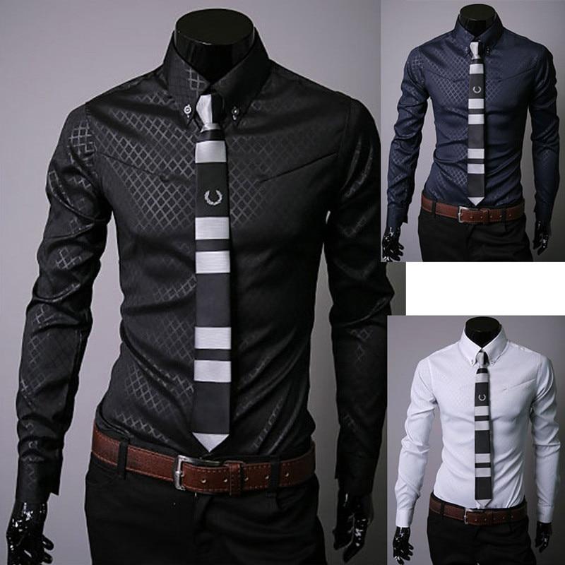 Camisa de moda para hombre para hombre Ropa de marca Slim Fit Hombre - Ropa de hombre - foto 1
