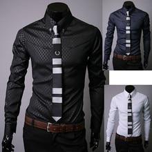 Men Fashion Shirt Mens Brand Clothes Slim Fit Man Long Sleeve Shirt Men Casual Shirts Men