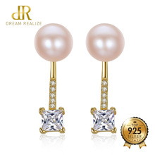 DR Brand Romantic S925 Jewelry Two Wearing Methods AAAAA 925 Sterling Silver Natural Pearl Stud Earrings for Women Daily Wear