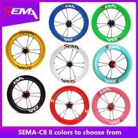 Углеродные колеса SEMA C8 12 дюймов для детей баланс/Strider велосипед с SKF 6802 керамический подшипник и титановый спиц лучшее к