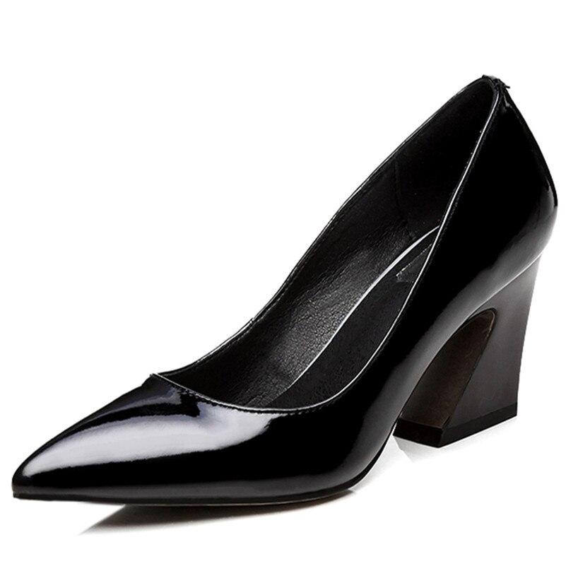De Supérieure Sexy Femmes Classique Design Femme À Talons Fedonas Mariage Chaussures Automne Hauts 1 Noir Épais Bal Bureau Pompes Pointu rose Marque Bout Qualité qAwCnqOa