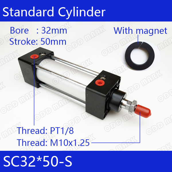 SC32*50-S Free shipping Standard air cylinders valve 32mm bore 50mm stroke SC32-50-S single rod double acting pneumatic cylinder sc32 175 sc series standard air cylinders valve 32mm bore 175mm stroke sc32 175 single rod double acting pneumatic cylinder