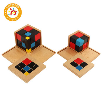 Baby Toy Montessori Material Trinomial Cube Binomial Cube Magic Cube Spatial Thinking Ability Early Teaching Aids baby toy montessori material sensory teaching aids foot balance hand balance early education home children toy