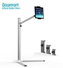 цена на UP-6 Universal Aluminum Alloy Height Adjustable 2 in 1 Smartphone holder + Tablet PC Floor Stand Single Arm Bracket 360 Degree