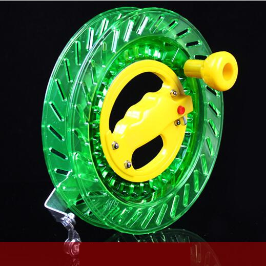 Nouveaux outils de vol de Sports d'amusement en plein air/accessoires de cerf-volant 20/22/26/28 cm ABS roue de cerf-volant vert/poignée directement à l'usine