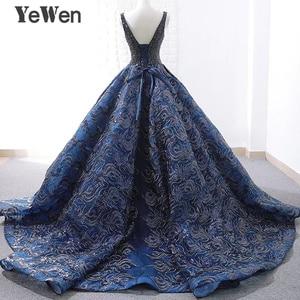 Image 3 - Sexy bleu Royal longue robe de soirée 2020 nouveauté Court Train perlé dentelle de noël Occasion spéciale robes de bal sur mesure