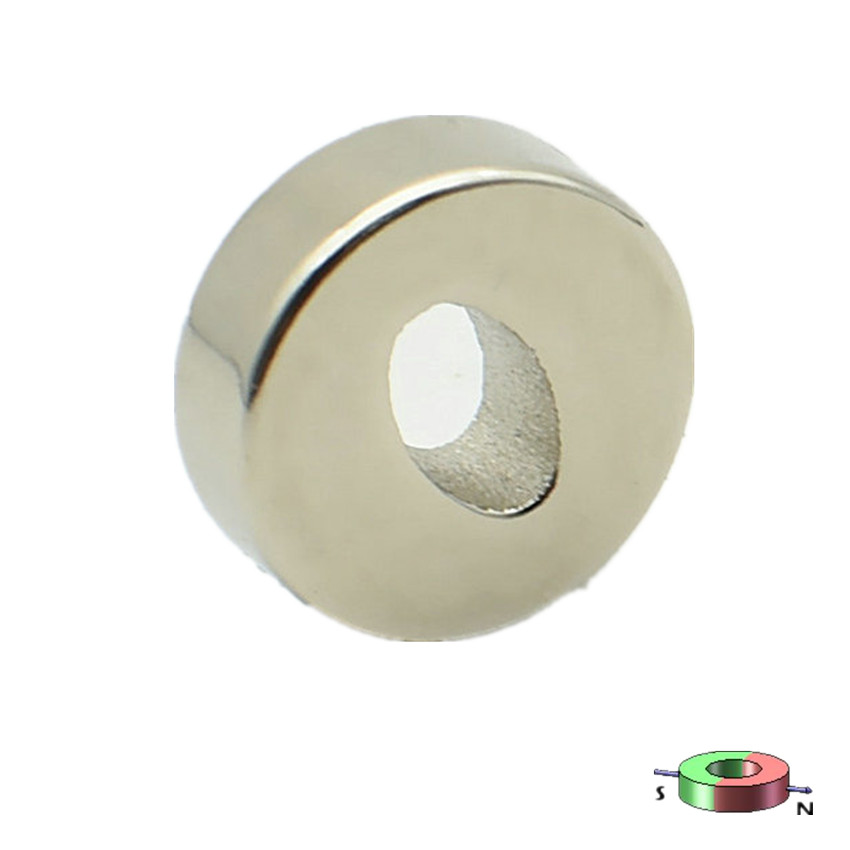 Diametrically NdFeB Magnet Oval Ring Diameter 10x5x3x3.5 mm Magnetic Tube Neodymium Permanent Magnets Poles on Sides shure wcb2db countryman b2d