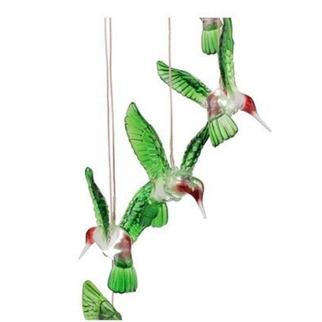 LED lamba renk değiştirme LED güneş rüzgar Chime Hummingbird rüzgar bahçe aydınlatma ışık lambaları dekorasyon ev balkon pencere