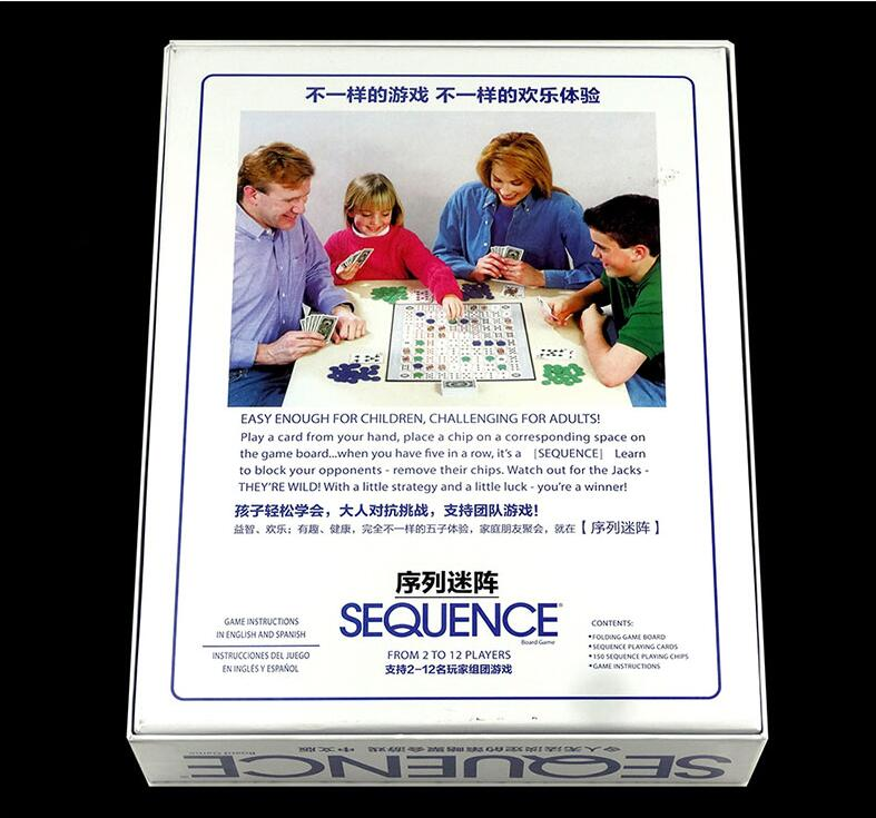 Card Board Game Sequence Game Suitable For 2 12 Players Family Mtg