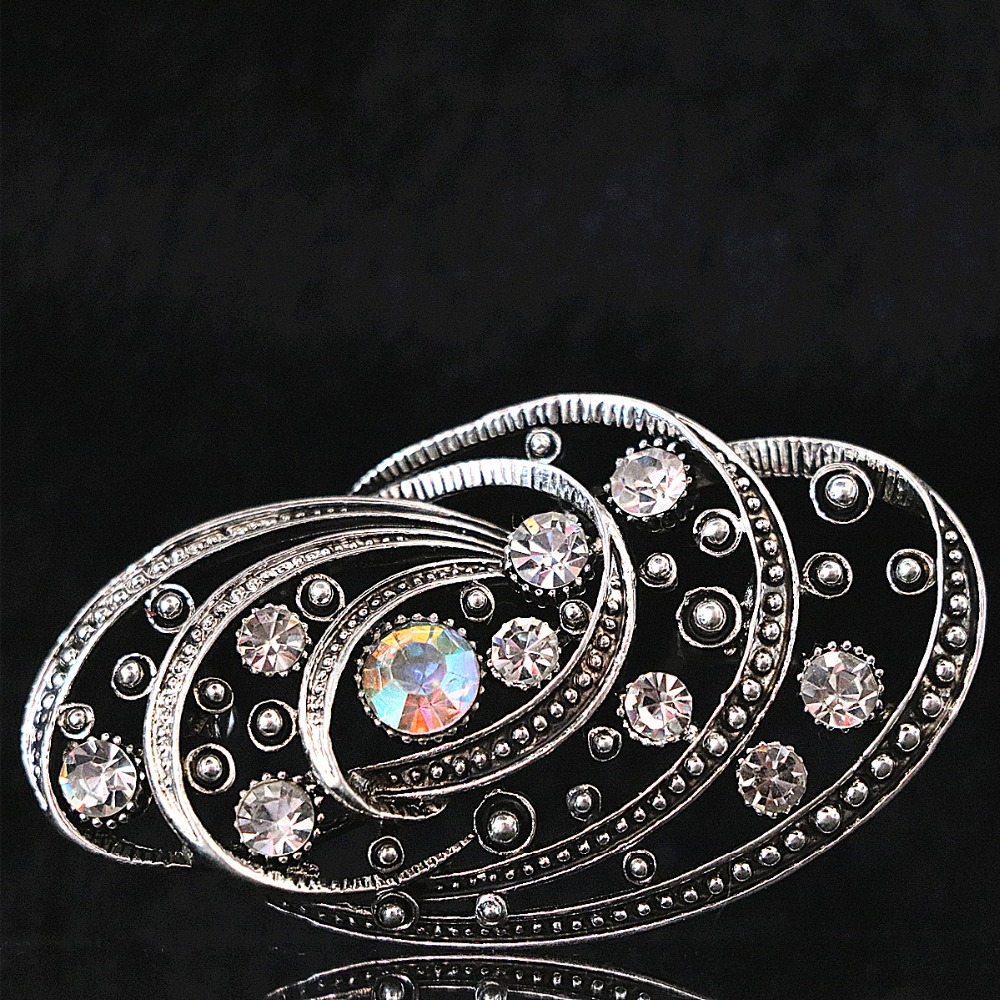 Special rhinestone big brooch crystal silver-color women sweater clothes pins jewelry B1216