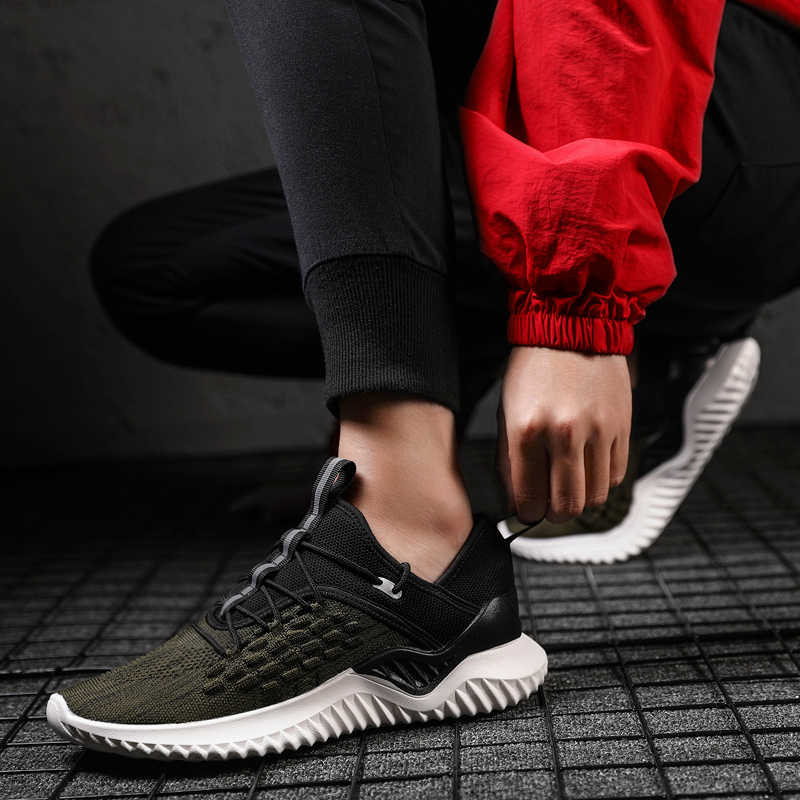 Running Shoes Men Sneakers Breathable Soft Flyknit Shoes Man Cushion Sports Shoes Outdoor Jogging Trainers Chaussure Homme Sport