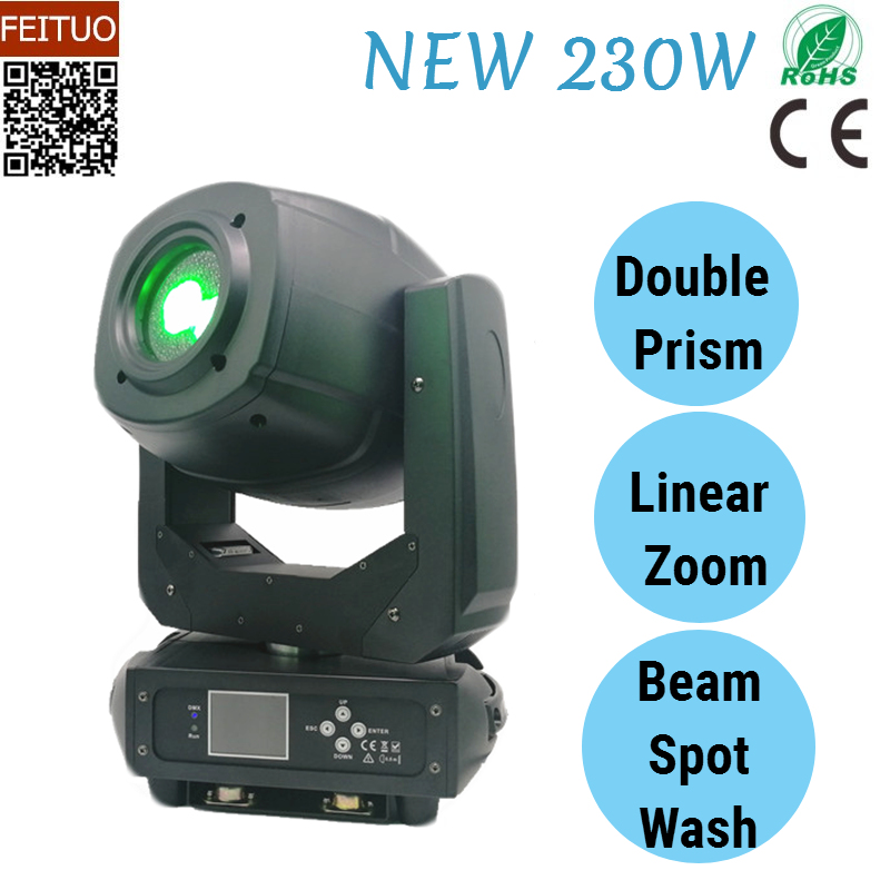 2018 New Spot Beam Wash 3IN1 Stage Moving Head Light LED 230w Disco Effects Gobos Projector DMX Moving Head Light DJ Party