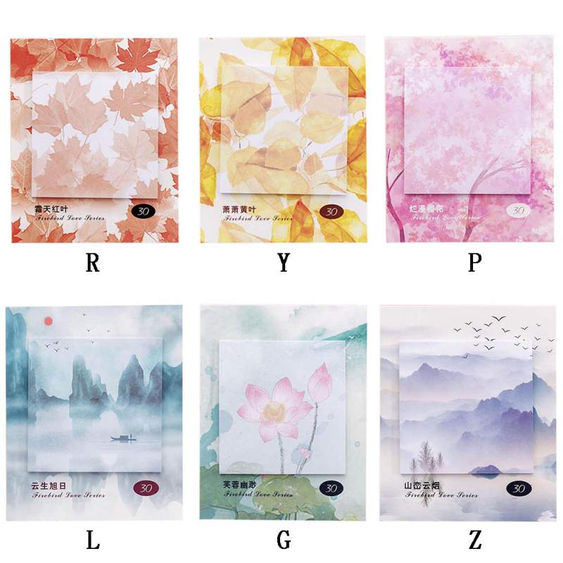 Creative Small Fresh Sticky Note Memo Pad Post Office Planner Sticker Paper Bookmark School Home Office Stationery Supply in Stickers from Home Garden