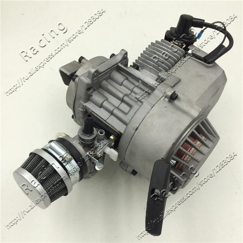 47-49cc Mini démarreur de traction en aluminium 2 temps refroidi par air de moteur de Moto pour le vélo de poche